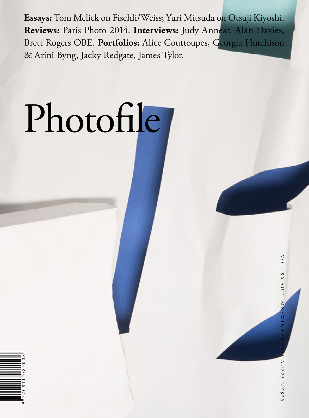 <p><i>Palaces</i> on the front cover of Photofile Volume 96, Autumn/Winter, 2016.</p>
