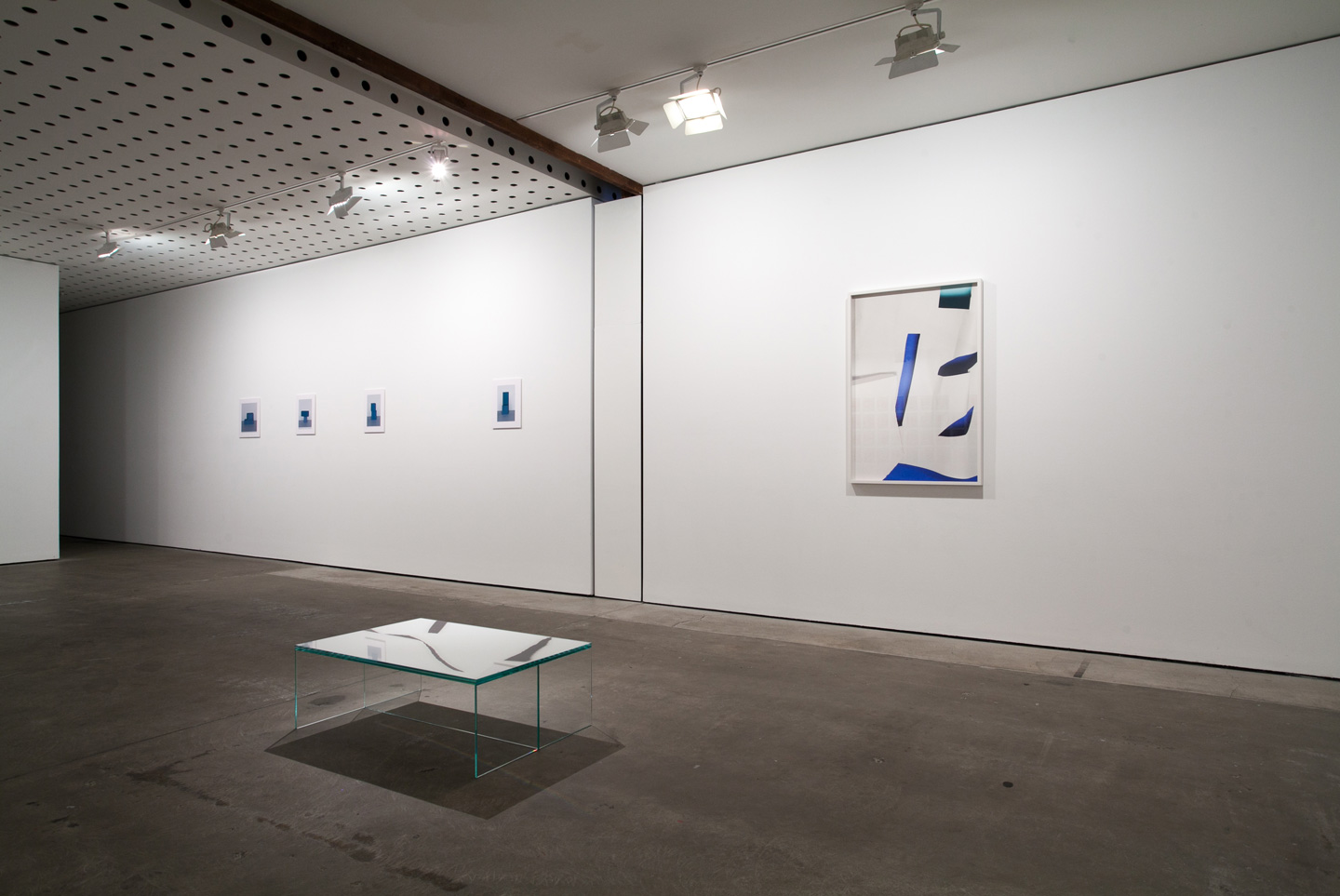 <p>Stein Rønning, Georgia Hutchison and Arini Byng. Installation view, Lit from the Top: Sculpture through Photography, Centre for Contemporary Photography. Photography: J Forsyth.</p>