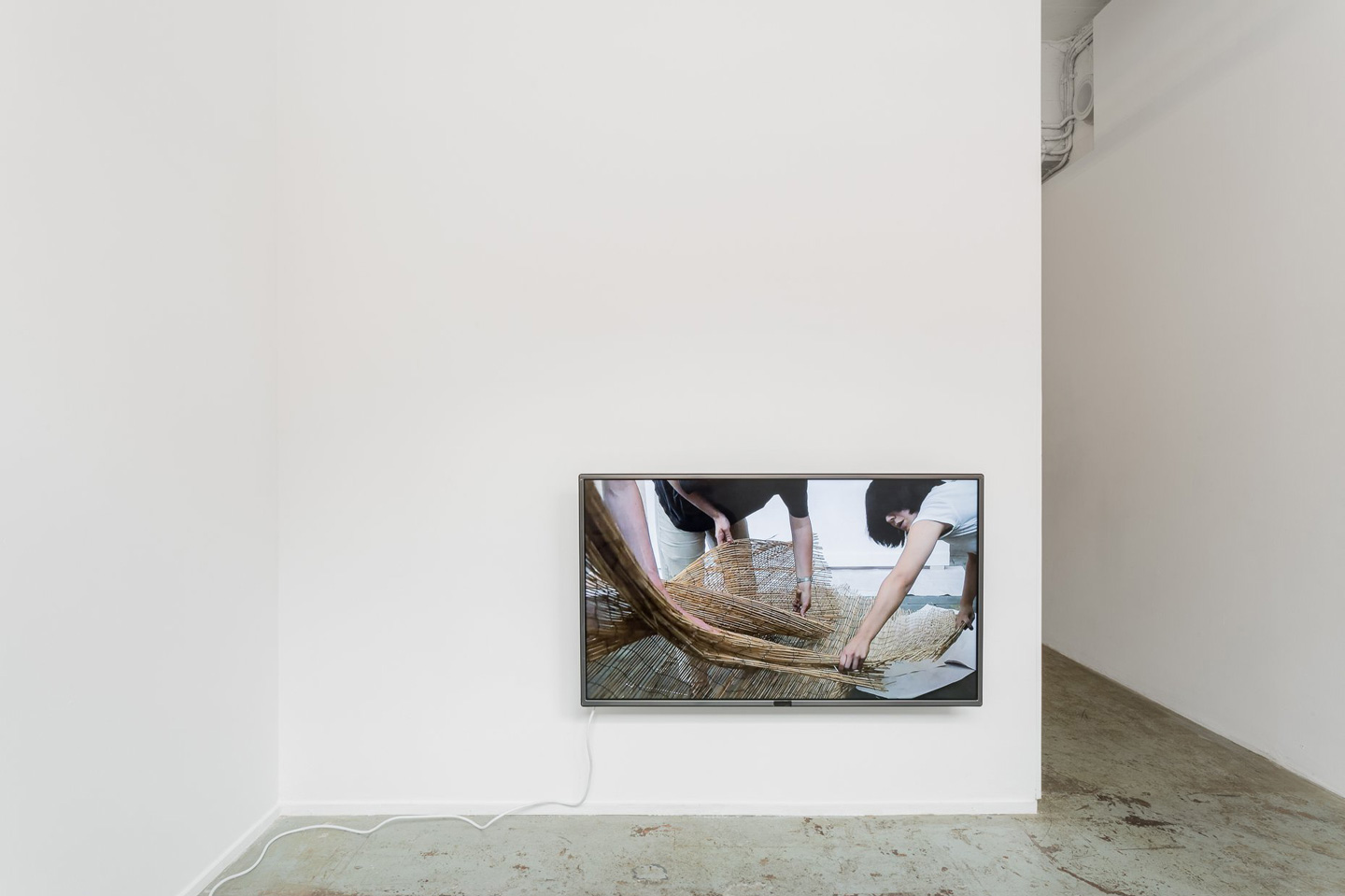 <p><em>Talking to the back of your head</em>, 2018, single channel high definition digital video, 11:29, continuous loop. Installation view, Bus Projects, Narrm (Melbourne), 2018. Photography: Christo Crocker.</p>